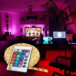 Lunio Color Wasserdichtes LED-Strip-Set mit Fernbedienung - 5m