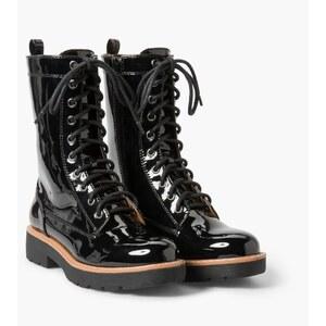 Mango Soldat - Boots en cuir - noir