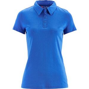 bpc bonprix collection Basic Baumwollshirt Rib-Jersey kurzer Arm in blau für Damen von bonprix