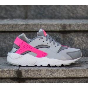 Nike Huarache Run (GS) Wolf Grey/White-Cool Grey-Hyper Pink