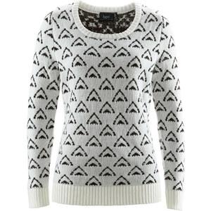 bpc bonprix collection Pullover langarm in weiß (Rundhals) für Damen von bonprix