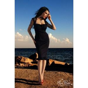 Pinup Couture Micheline Dress black with Black Chiffon trim