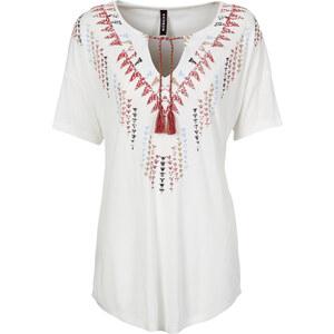 RAINBOW T-Shirt mit Kordeln kurzer Arm in weiß für Damen von bonprix
