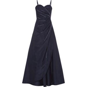 Luxuar Abendkleid mit Drapierung und Zierperlen