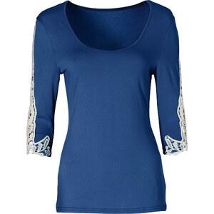 BODYFLIRT Shirt 3/4 Arm in lila (Rundhals) für Damen von bonprix