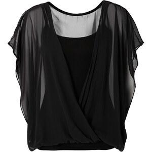 BODYFLIRT Shirtbluse kurzer Arm in schwarz für Damen von bonprix
