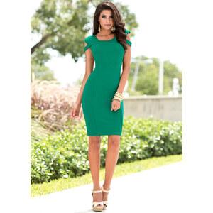 Kleid/Sommerkleid kurzer Arm in grün von bonprix