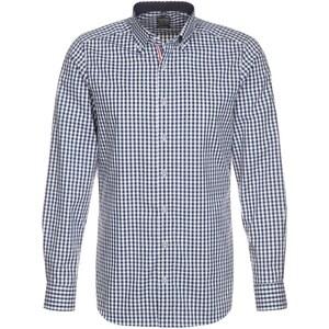Olymp Level 5 BODY FIT Hemd dunkelblau/weiß