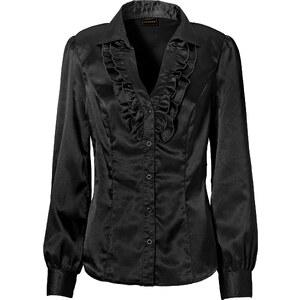 RAINBOW Bluse langarm in schwarz von bonprix