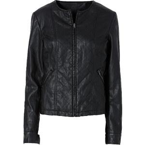 BODYFLIRT Lederimitat-Jacke langarm in schwarz für Damen von bonprix