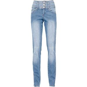 John Baner JEANSWEAR Stretch-Jeans Bauch-Beine-Po SKINNY, Kurz in blau für Damen von bonprix