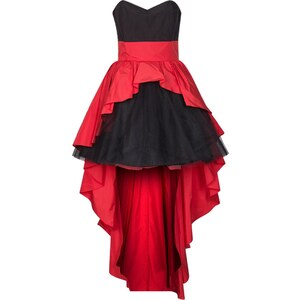 Swing Cocktailkleid / festliches Kleid hibiskus/black