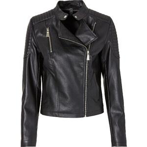 RAINBOW Lederimitat Jacke in schwarz für Damen von bonprix