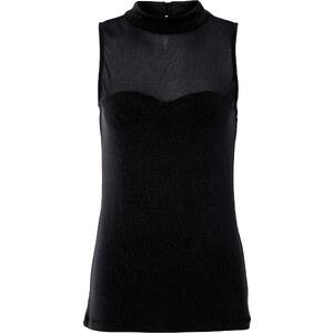 BODYFLIRT Shirt ohne Ärmel in schwarz für Damen von bonprix