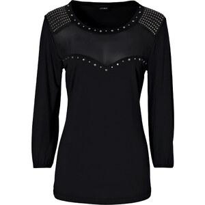 BODYFLIRT Shirt 3/4 Arm in schwarz (Rundhals) für Damen von bonprix