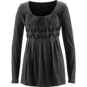 bpc selection Langarmshirt in schwarz für Damen von bonprix