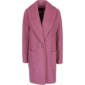 91d391c85d Ružový dámsky vlnený kabát Pietro Filipi - Glami.sk