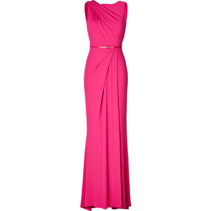 Elie Saab Draped Evening Gown with Back Cut-Outs