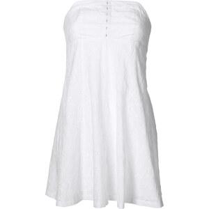RAINBOW Kleid ohne Ärmel figurbetont in weiß von bonprix