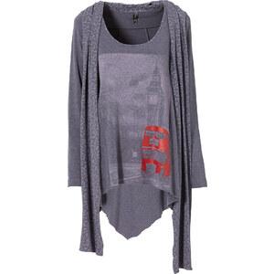 RAINBOW Shirt mit Schal in blau für Damen von bonprix