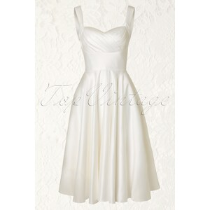 Unique Vintage 50s Happily Ever After Dress in Ivory