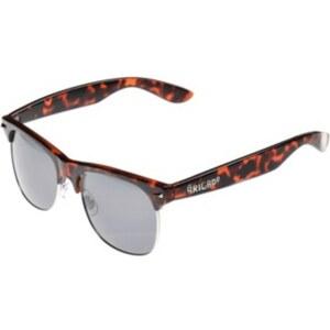 BRIGADA Midtown Sunglasses orange tortois/smoke lens