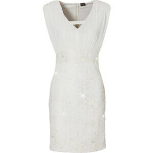 BODYFLIRT Shirtkleid ohne Ärmel figurbetont in weiß (Rundhals) von bonprix