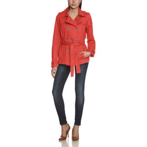 QS by s.Oliver Damen Trenchcoat Jacke 49.403.51.8682