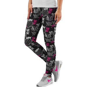 Dangerous DNGRS F  K You Leggings Black Pink - Glami.cz ad119bf4fd