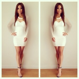Look Weißes Kleid von princess_abby