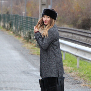 Look de Cuissardes & Faux fur à The green ananas €