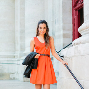 Look de Petite robe orange à youmakefashion €