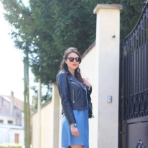 Look de Blue dress à lestendancesbymarin €