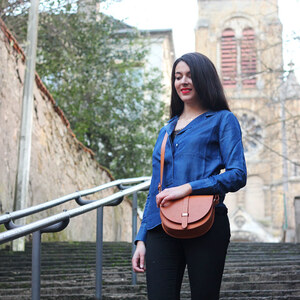 Look de Camel and blue à lestendancesbymarin €