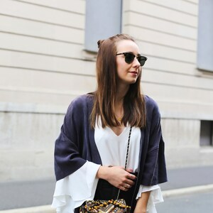 Look Kimono Look X embriodered bag X Streetstyle from Würzburg von clean_couture