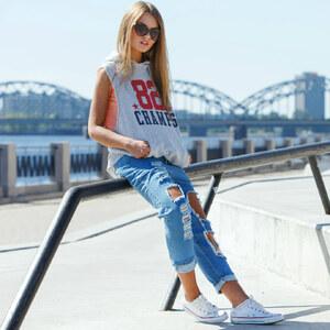 Look Zerrissene Jeans von domodi