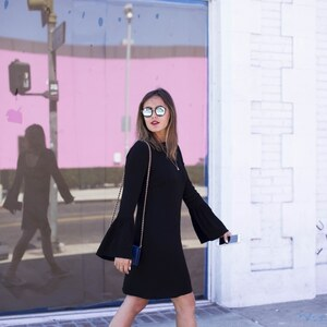Look L.A. STREETSTYLE – MELROSE AVENUE, THE PINK WALL von LAURA NOLTEMEYER