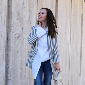 Look Streetstyle X Striped Blazer X Jeansculotte von clean_couture