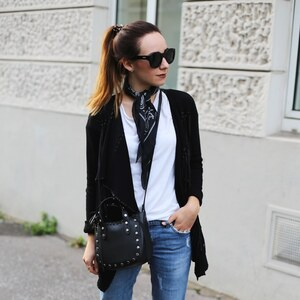 Look fringe jacket X neckerchief X Streetstyle from Cologne von clean_couture