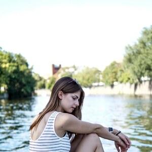 Look Striped Set on the Waterfront von Jacky