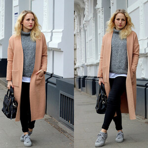 Look OUTFIT: Camel Coat And Grey Knit Layering von lillycalling