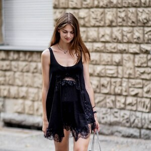 Look All black summer outfit von Jacky