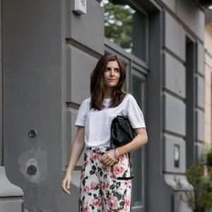Look Rose Culottes and Saint Laurent von simple-et-chic