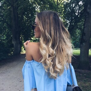 Look Blue Off shoulder top von user0