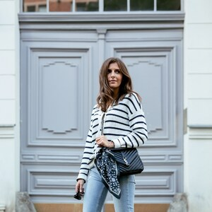Look Friday Look: Stripes & Comfy Heels von simple-et-chic