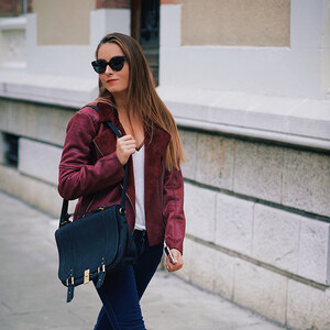 Look de FALL BURGUNDY à heelsongasoline €