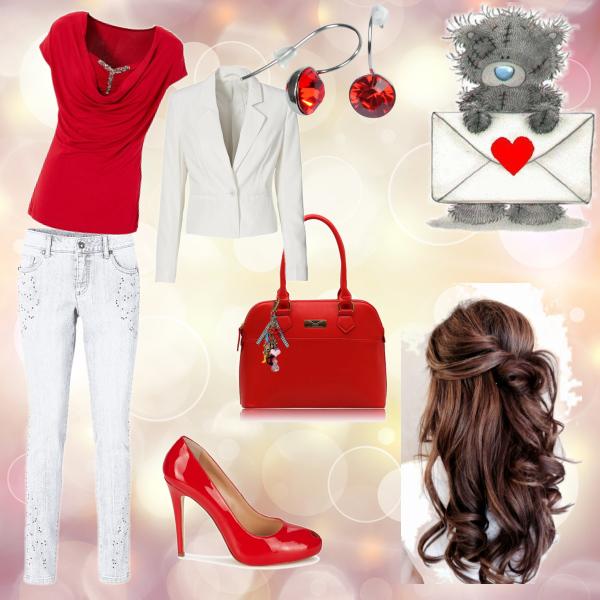 Romantická červená