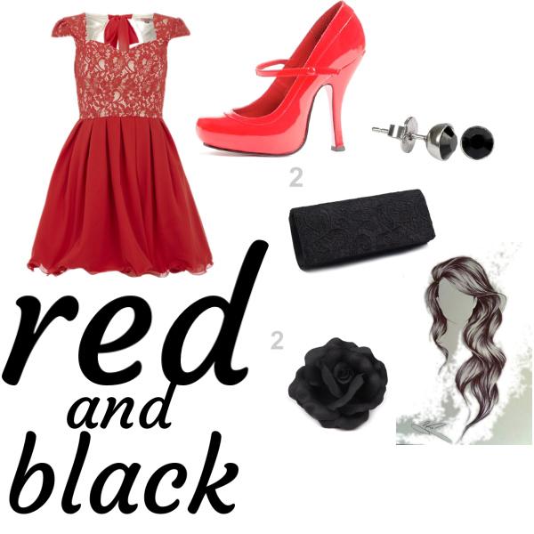červený oblek na rande nebo na ples.