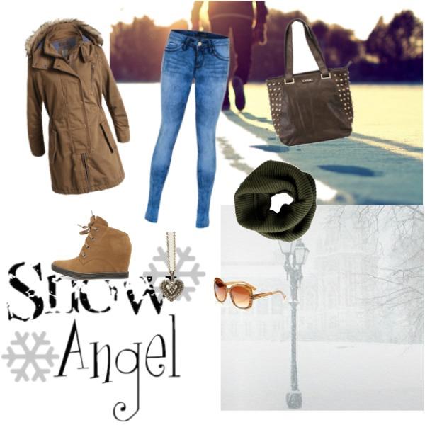 Snow angel!! Let it snow:)