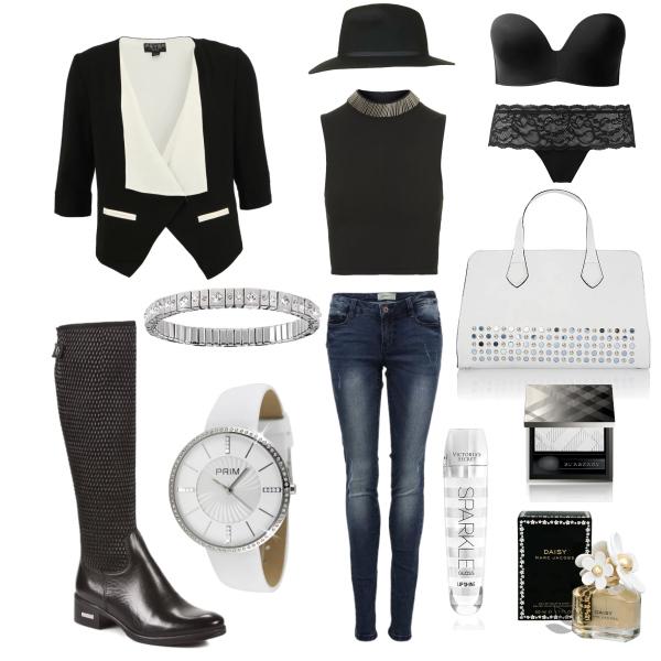 Black-white lady